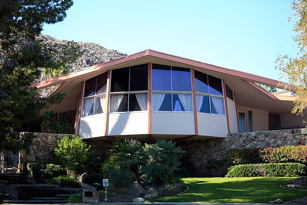 elvis honeymoon hideaway palm springs - elvis stock photos and pictures