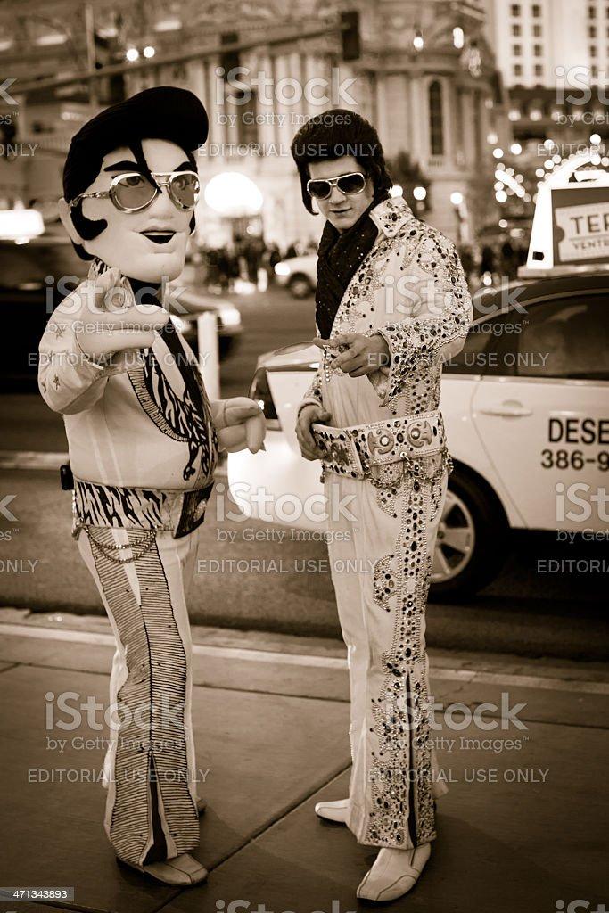 Elvis impersonators stock photo