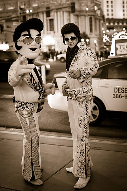 elvis impersonators - elvis stock photos and pictures