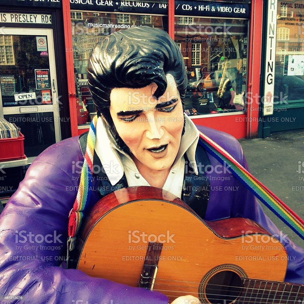 Elvis Mannequin stock photo