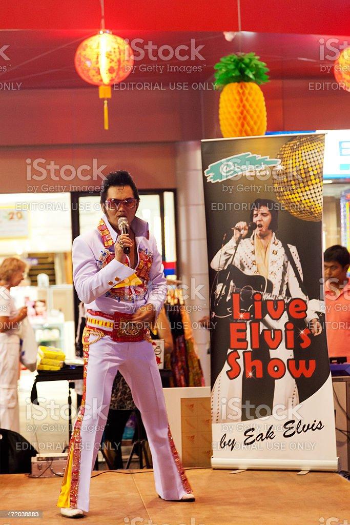 Elvis night show in Phuket stock photo