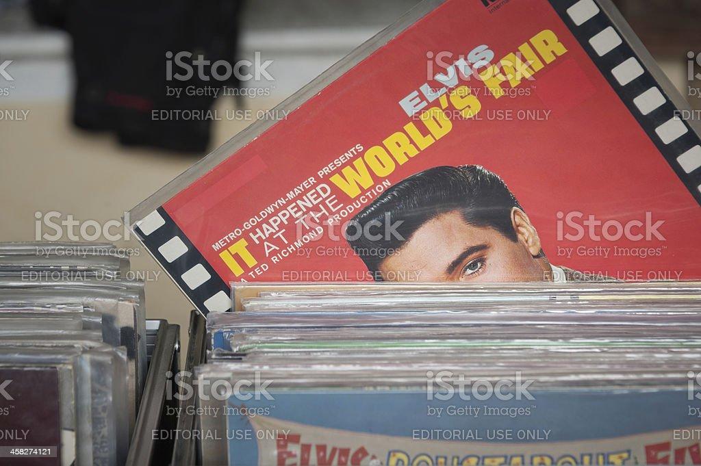 Elvis peeking stock photo