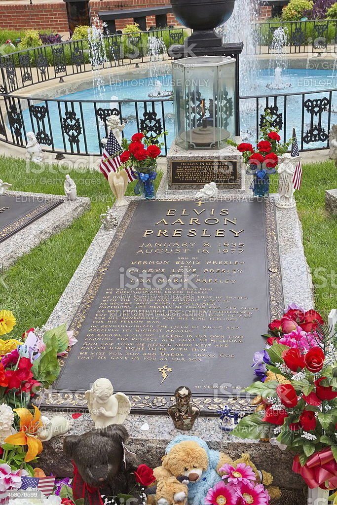 Elvis Presley Grave at Graceland, Memphis, TN stock photo