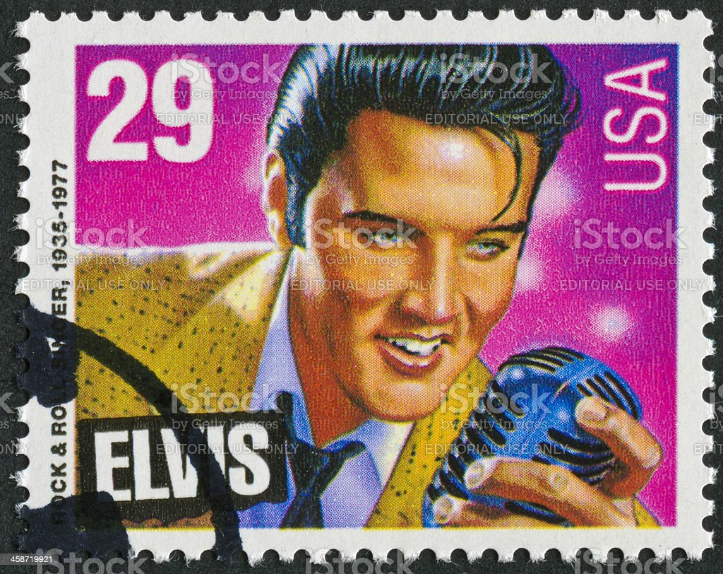 Elvis Presley Stamp stock photo