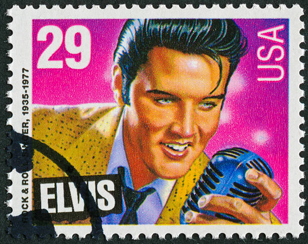 elvis presley stamp - elvis stock photos and pictures