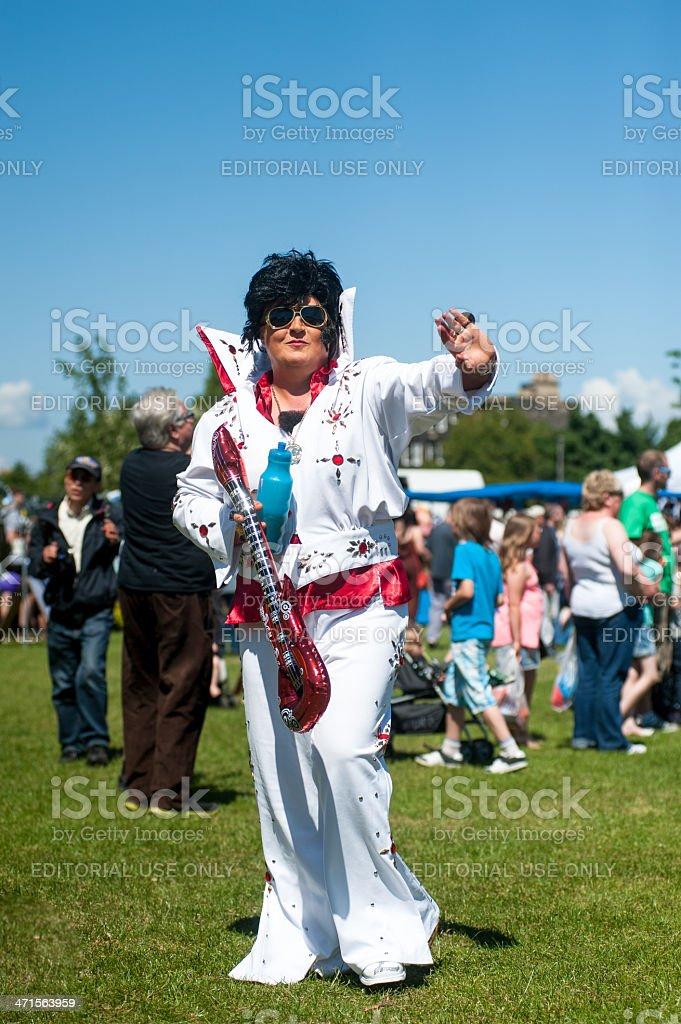 Elvis Presley's Sosia stock photo