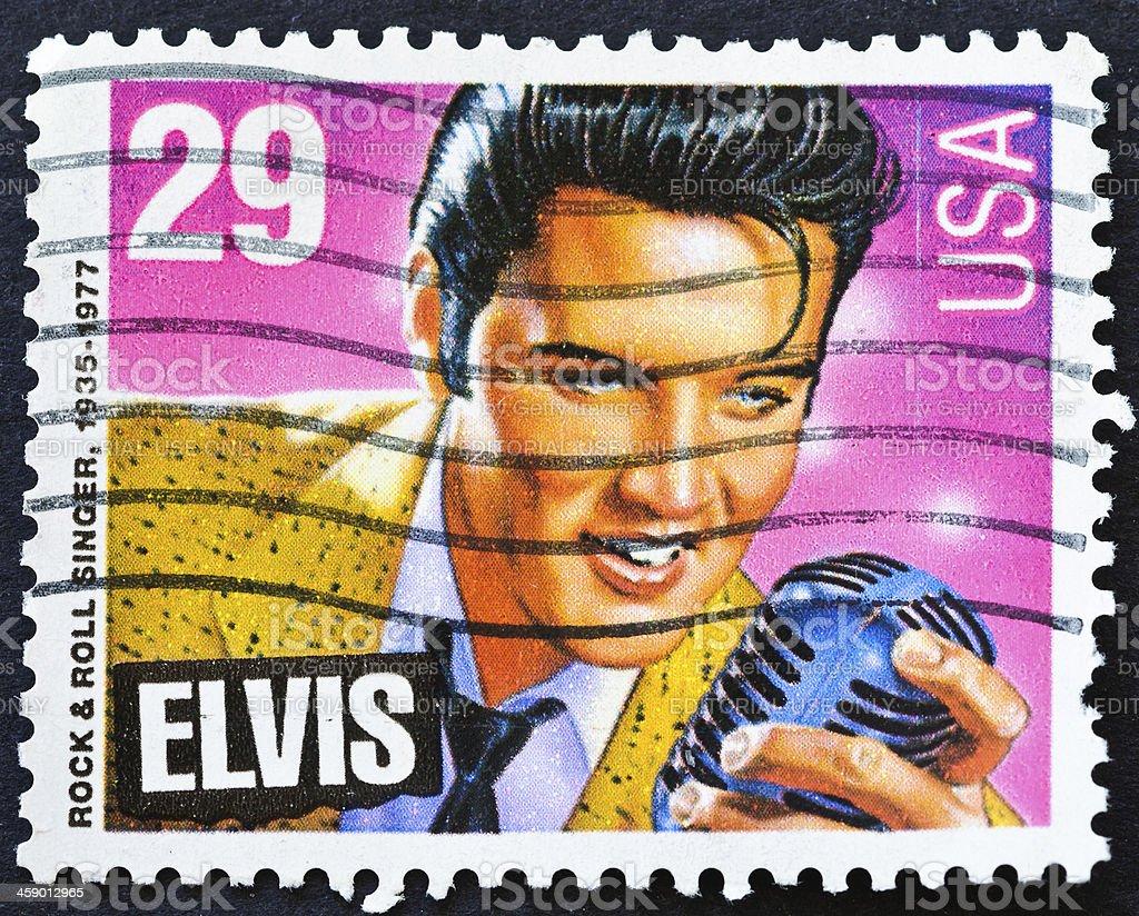 Elvis Stamp stock photo