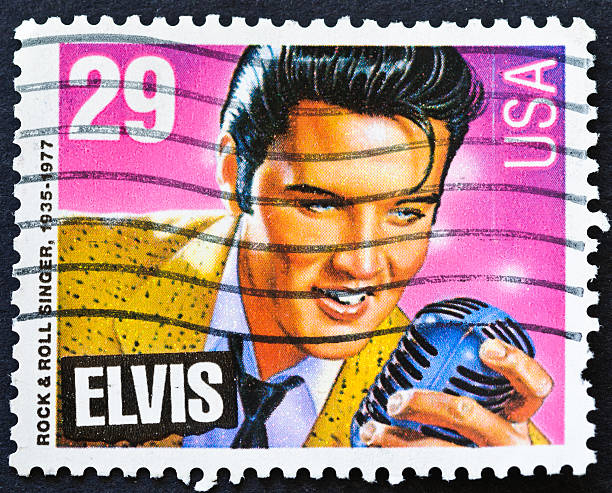 elvis stamp - elvis stock photos and pictures