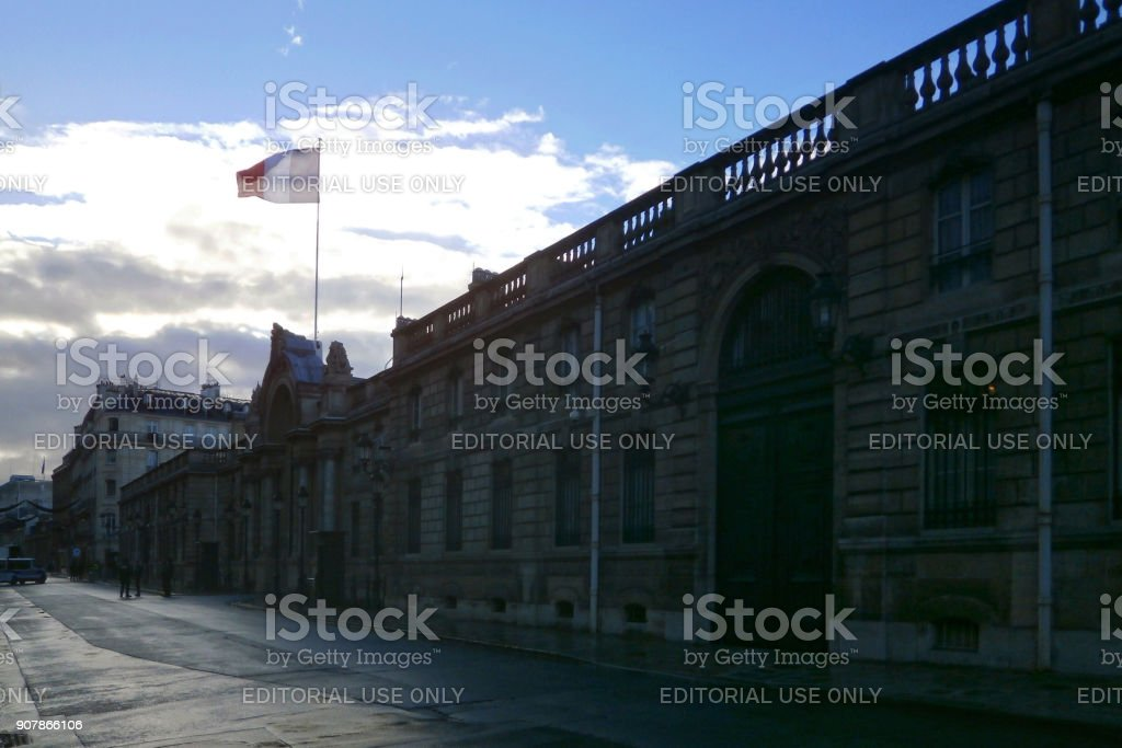 Elysee palace in Paris stock photo