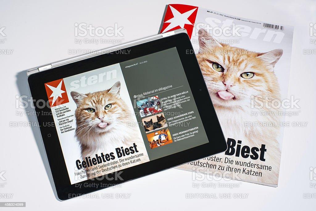 e-Magazine stock photo