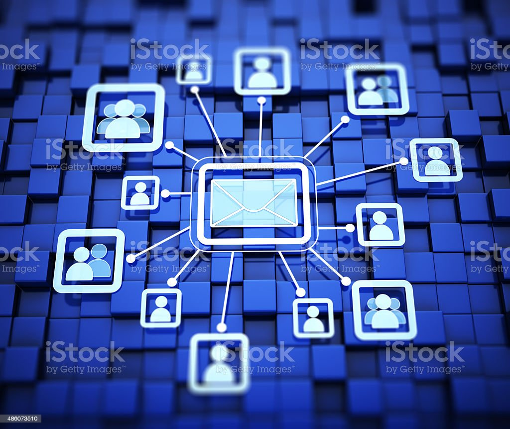 Email and contacts concept stock photo