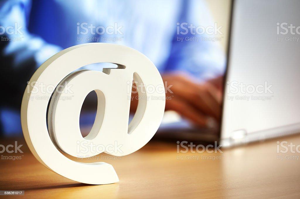 E-mail @de symbole - Photo