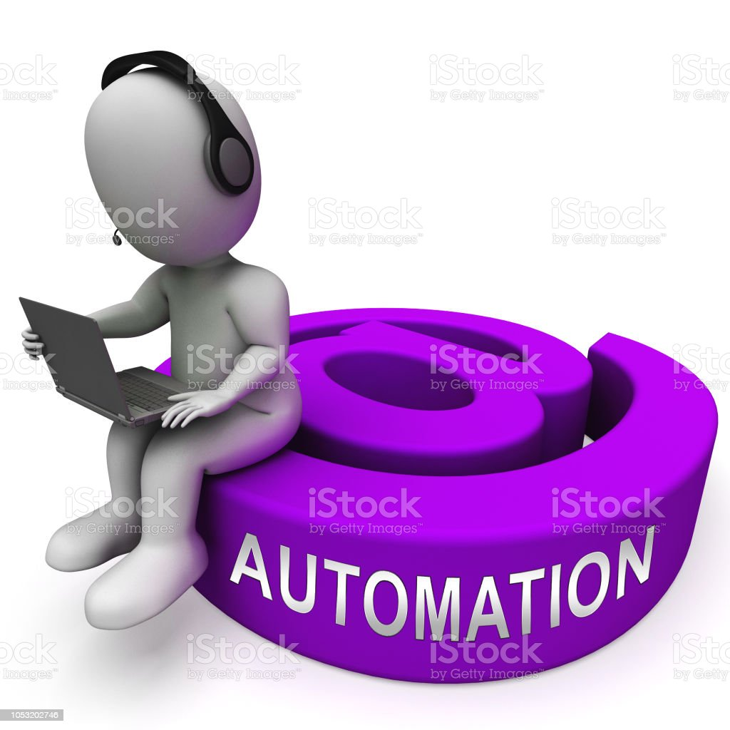 Email Automation Digital Marketing System 3d Rendering stock photo