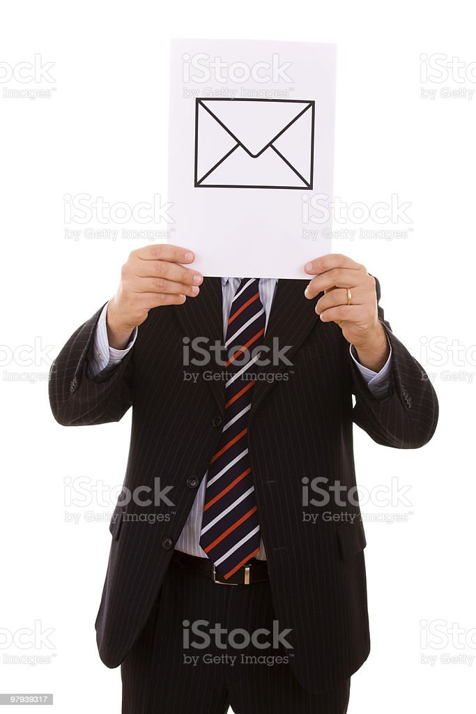 EMail businessman royalty-free stock photo