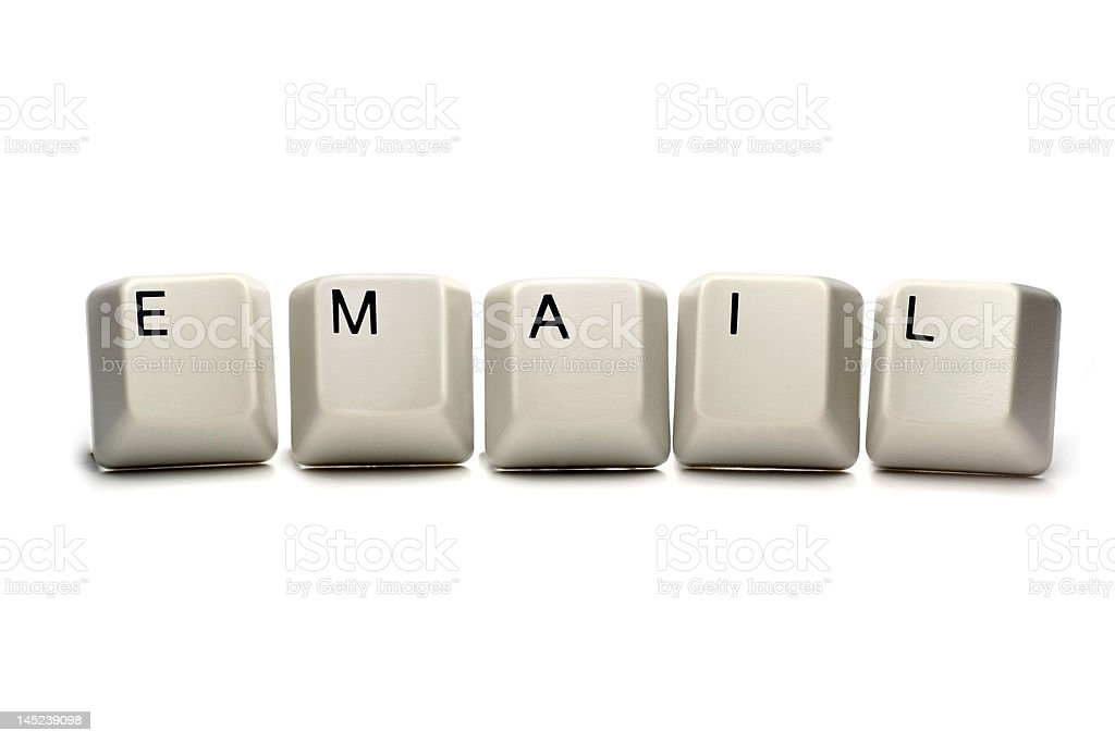 email - computer keyboard keys royalty-free stock photo