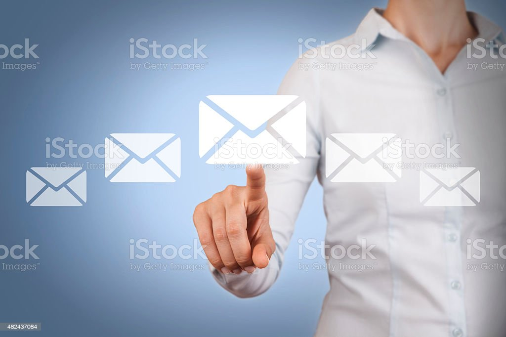 Email Concept on Visual Screen stock photo