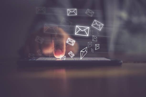 이메일 개념 - 전자메일 뉴스 사진 이미지