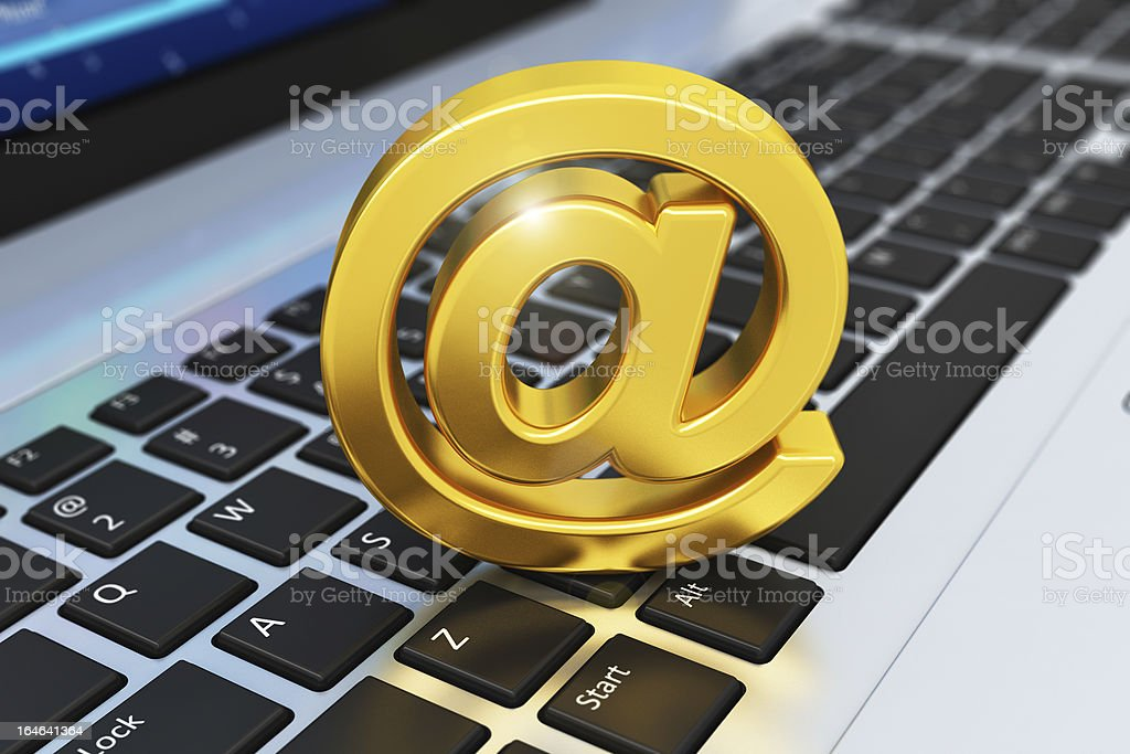 E-mail concept royalty-free stock photo