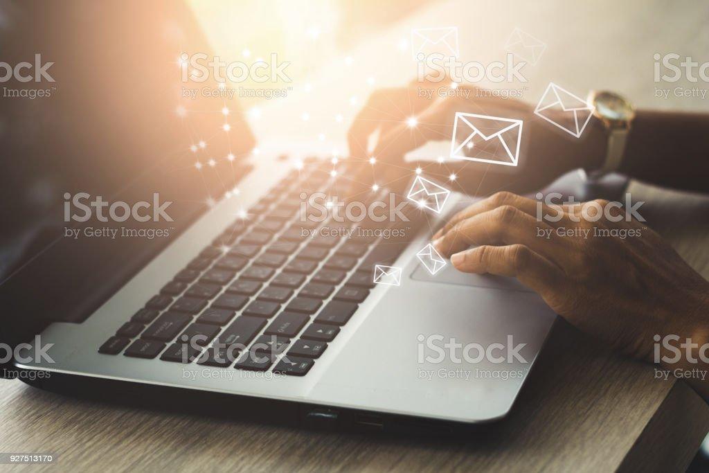 E-Mail-Konzept - Lizenzfrei Arbeiten Stock-Foto