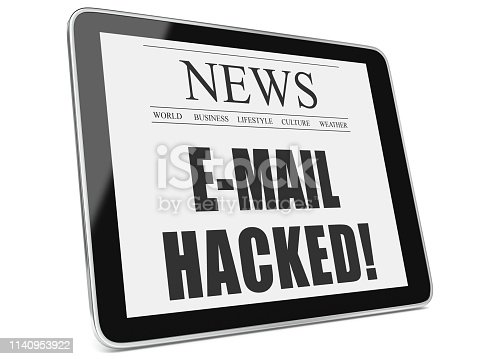 E-mail hacked cyber attack newspaper tablet computer