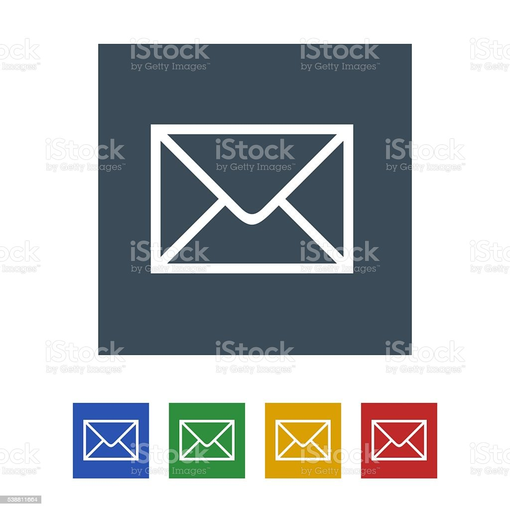 email icon isolated on white background stock photo