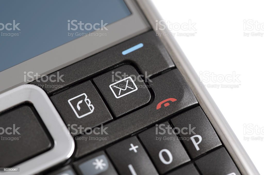 Email icon on PDA phone stock photo