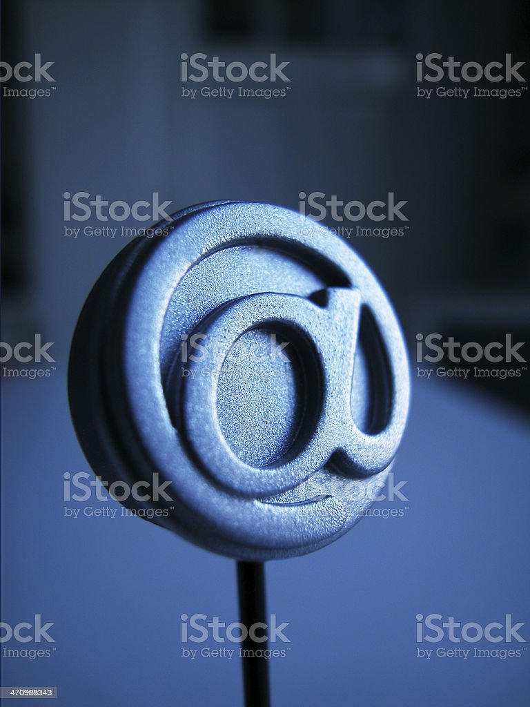 Email Icon - @ - royalty-free stock photo