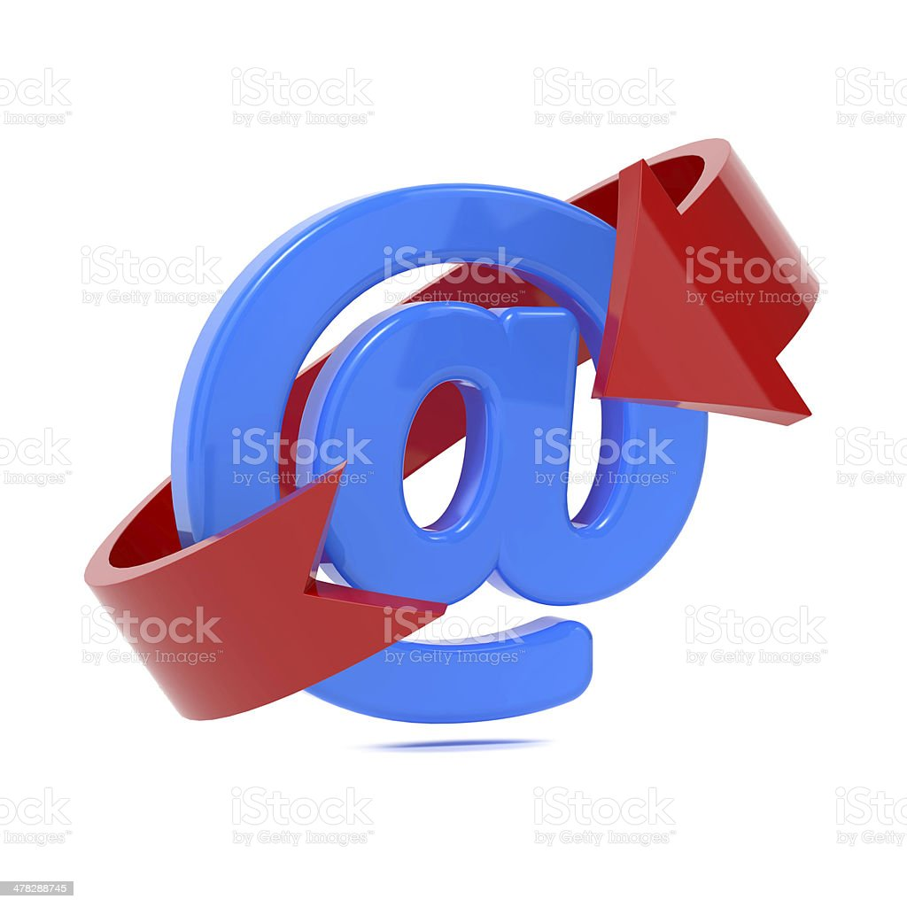 Email Icon with Red Arrow. royalty-free stock photo