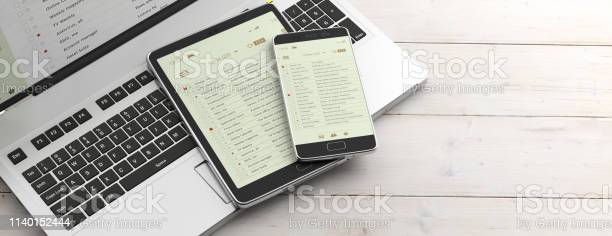Email lists on smartphone and tablet screens computer keyboard and picture id1140152444?b=1&k=6&m=1140152444&s=612x612&h=dfgs g7fs0dcips99lxefmjwa0g77ju6 fxv1egxsd4=