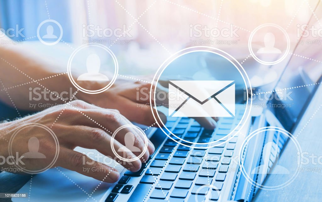email marketing concept stock photo