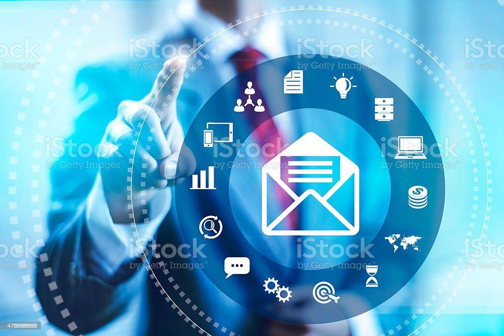 Email marketing illustration stock photo