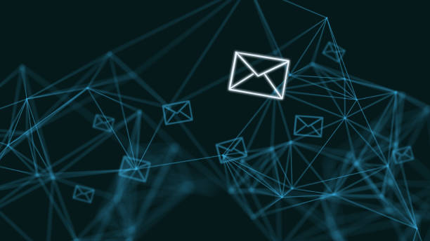 email marketing online message network communication internet - email foto e immagini stock