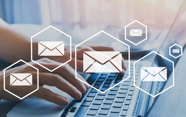 email marketing or newsletter concept stock photo