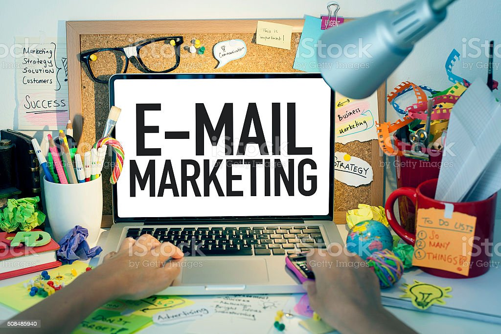 E-mail Marketing stock photo