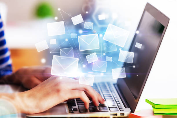 E-mail networking concept stock photo
