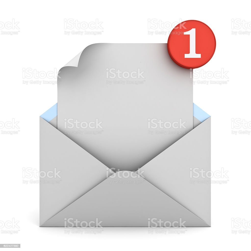 Email notification stock photo