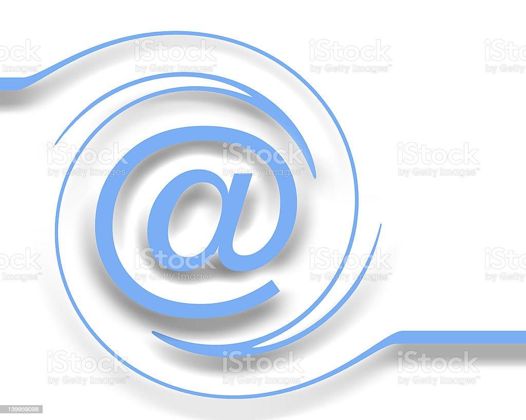 E-mail sur blanc - Photo