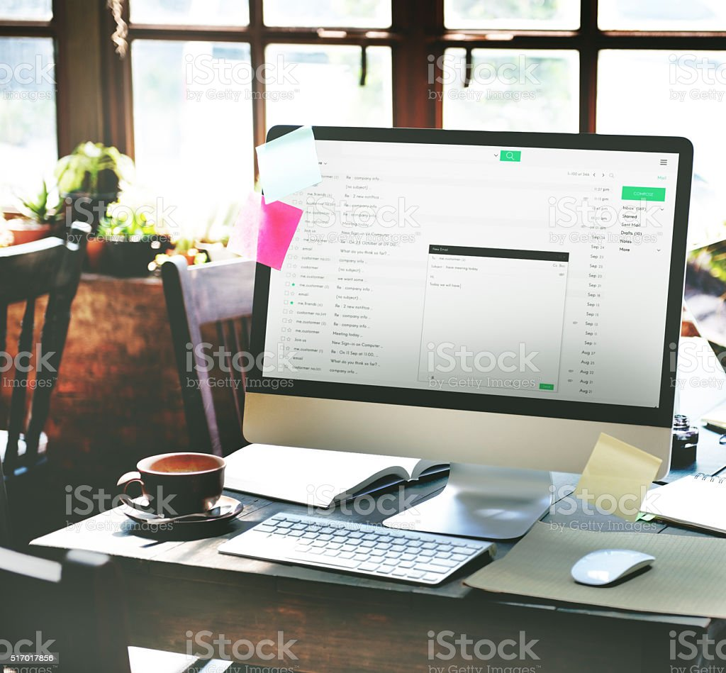 Email Online Messaging Communication Mail Concept stock photo