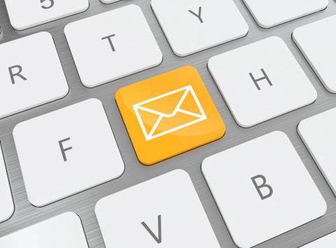 Email - Fotografie stock e altre immagini di Arancione