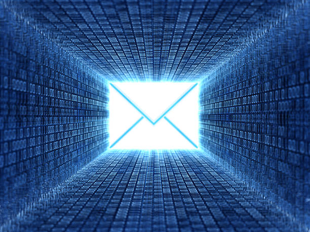 e-mail - bit binary stock pictures, royalty-free photos & images