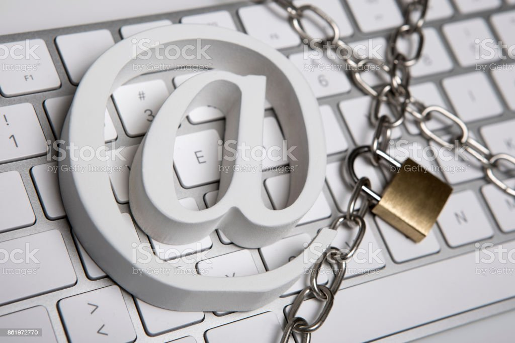E-mail security stock photo