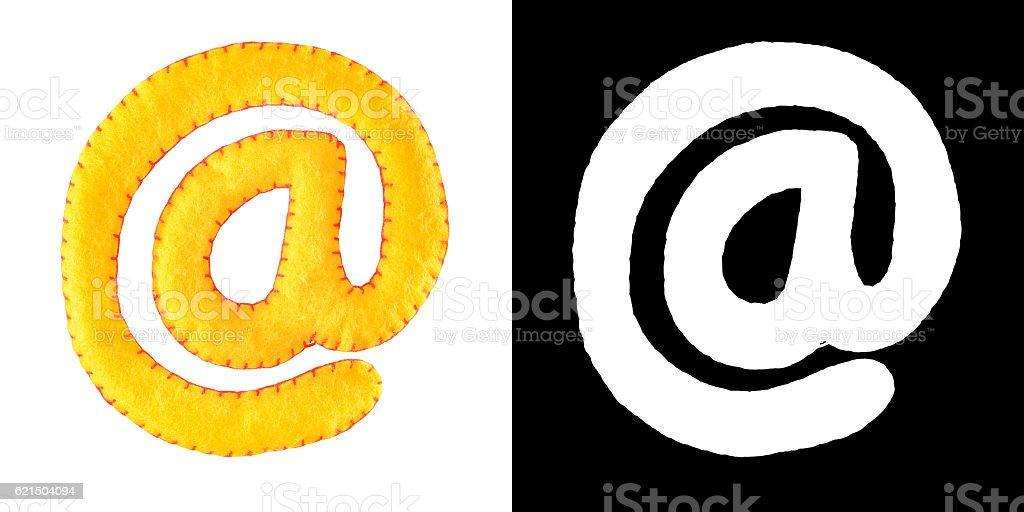 E-Mail simbol from felt Lizenzfreies stock-foto