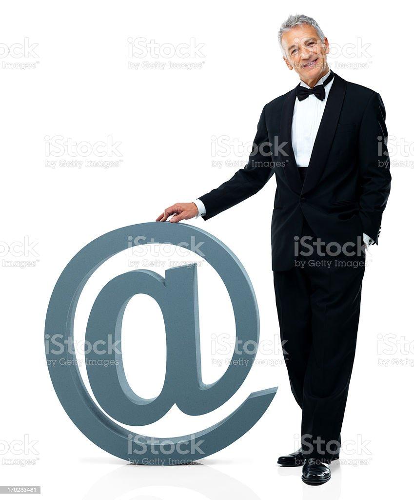 E-mail-jemand mit Stil Lizenzfreies stock-foto