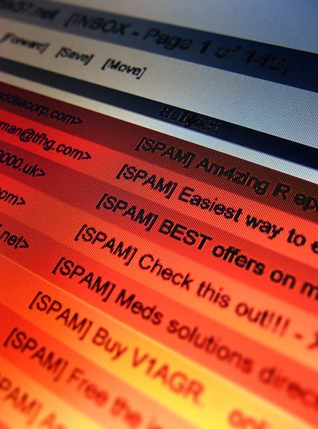 eMail Spam 4 (closest) stock photo