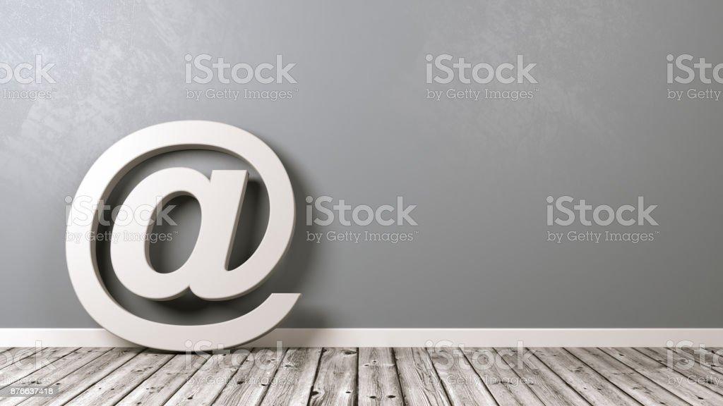 Symbole du courriel avec fond - Photo
