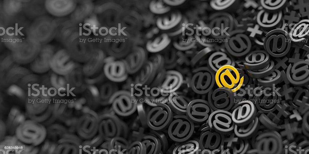 Email symbols background stock photo