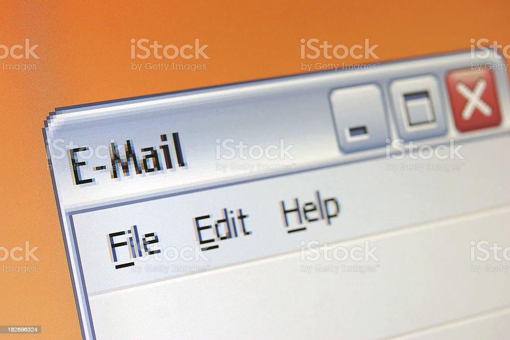E-mail window royalty-free stock photo