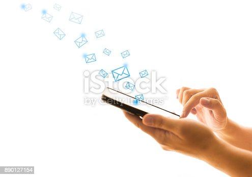545576042 istock photo Emails 890127154