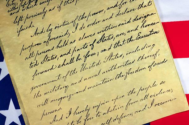 Emancipation Proclamation Document stock photo