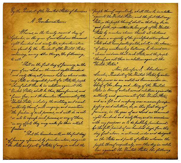 Emancipation Proclamation Replica stock photo
